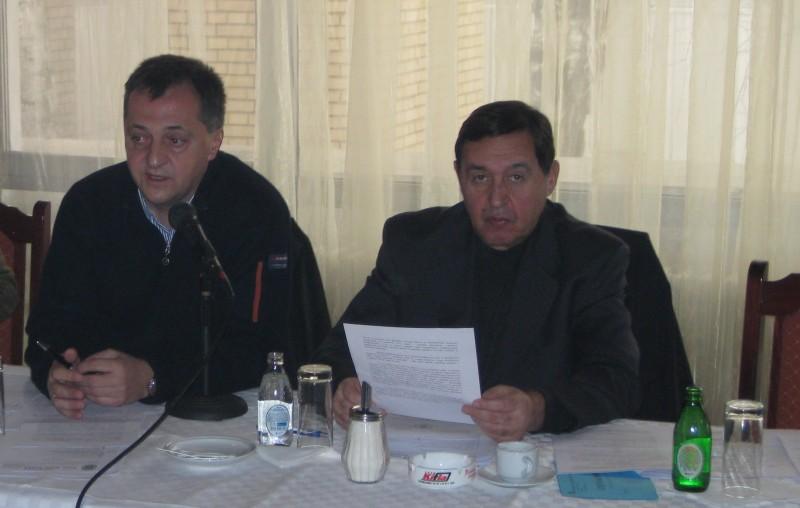 UPRAVNI ODBOR SAKSS U STALNOM ZASEDANJU Dragoljub Lekić i Nebojša Atanacković