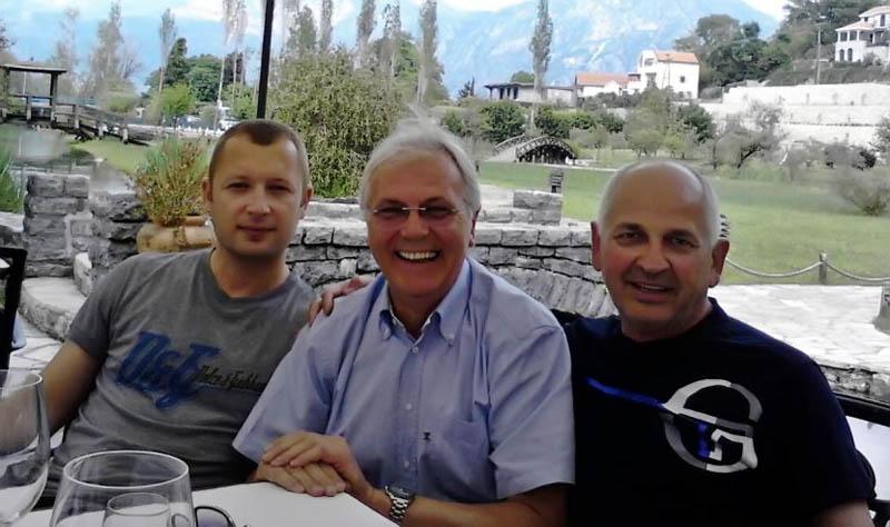Danko Bakrač, Paja Komnenović i Bato Banićević