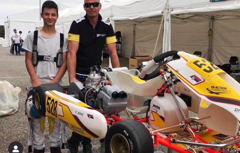 Filip Jenić i mehaničar Lonato Italija FIA Akademija