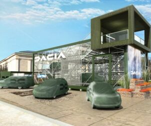 Vue 3D stand Dacia